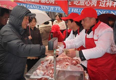 """锦州市春节市场""""放心肉""""受到百姓青睐"""