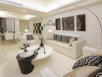 白色玄关客厅餐厅厨房书房卧房装修效果图
