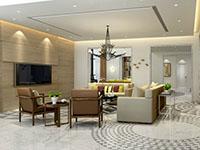 現代歐式風格別墅客廳裝修效果圖