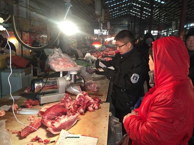 锦州市古塔动监节前畜禽产品安全大清查