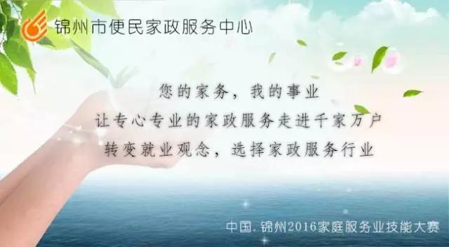 中国.锦州2016家庭服务业技能大赛实施方案