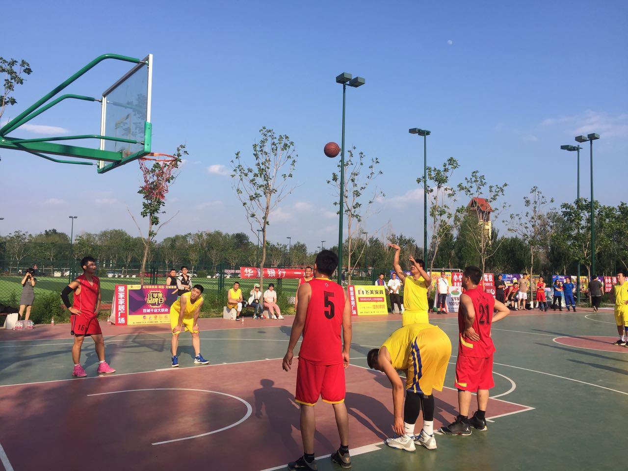 锦州便民家政服务中心代表队参加爱家家居杯全市组织的篮球赛,获得第四名的好成绩