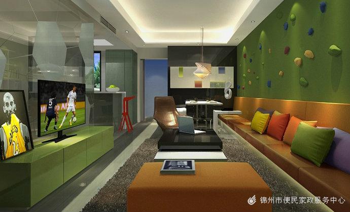现代简欧风格大居室装修效果图
