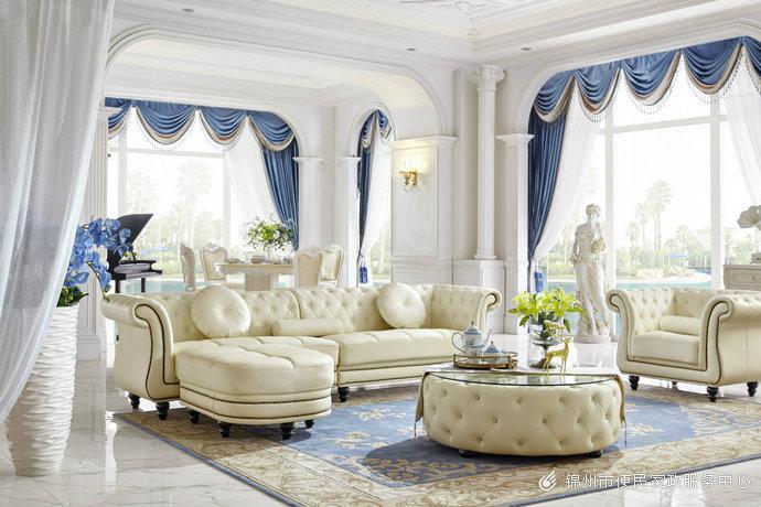 现代简约欧式风格白色家居装修效果图