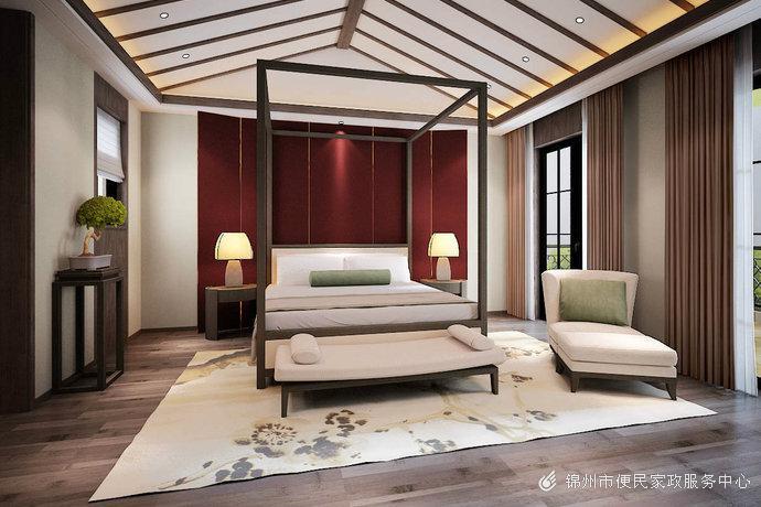 新古典中式风格大户型别墅客厅装修效果图
